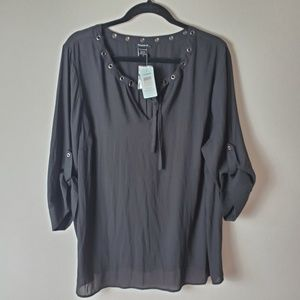 Torrid | sheer elbow length blouse NWT